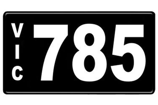 Number Plates - Victorian Numerical Number Plates '785'