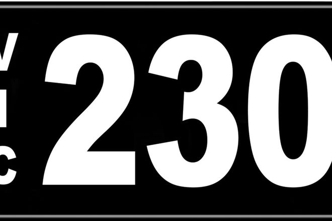 Number Plates - Victorian Numerical Number Plates '230'