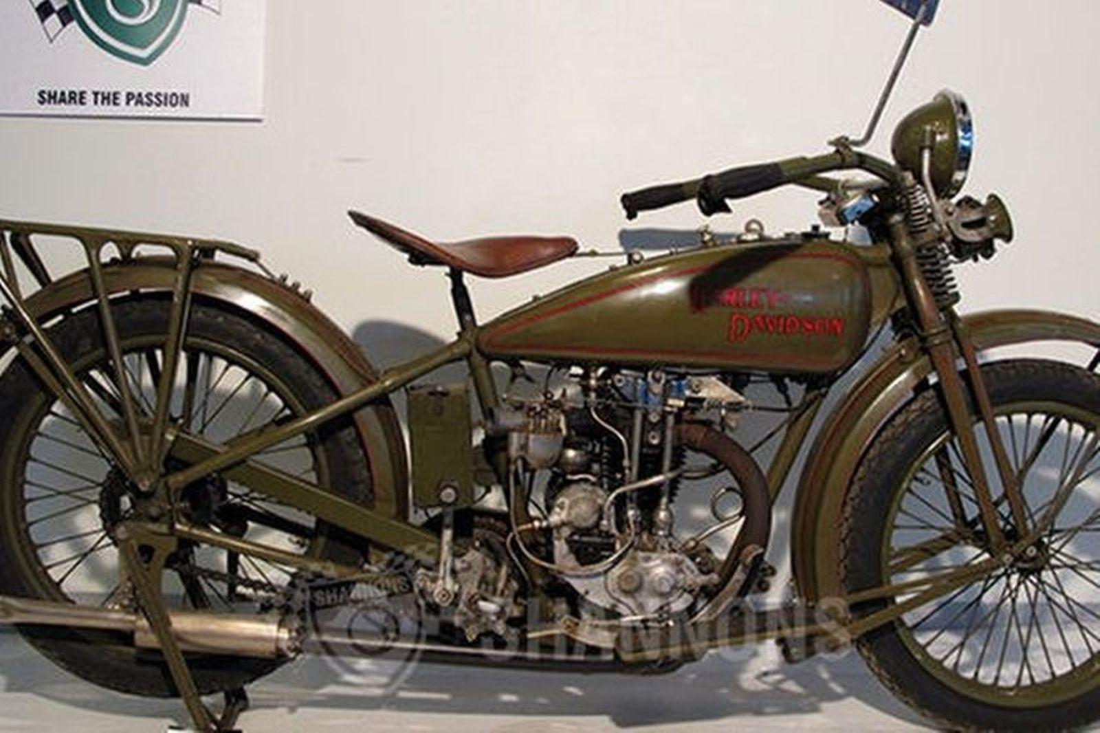 1928 Harley Davidson Ohv Peashooter: Sold: Harley-Davidson 27B 350cc (OHV) Peashooter