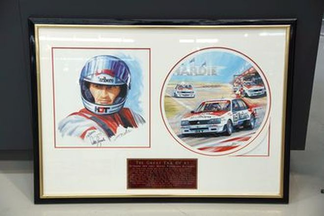 Framed Signed Print - Peter Brock 'The Great Era of 82' by Greg McNeill (No.21/250)