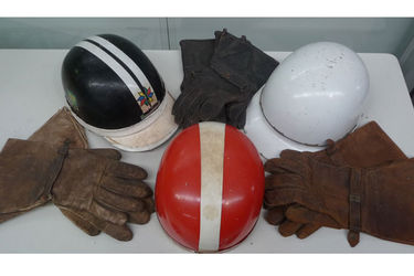 3 x Period Helmets & Various Leather Gloves