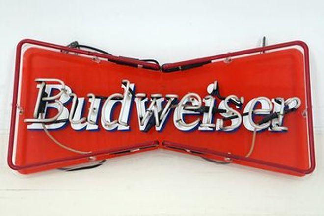 Neon Sign - Budweiser  - Ex-Billys Service Station, QLD  (80 x 38 x 8cm)