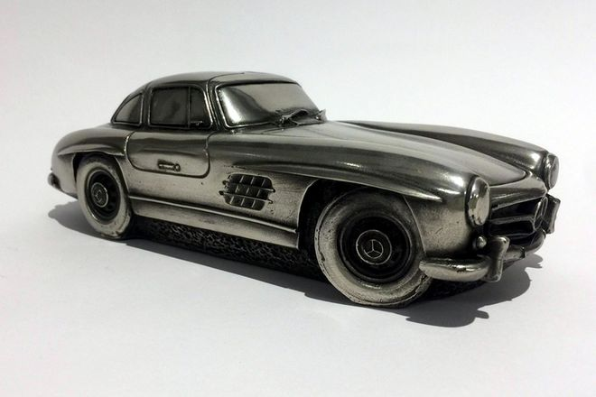 Pewter Model Car - Mercedes Gullwing