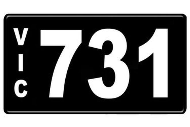 Number Plates - Victorian Numerical Number Plates - 731