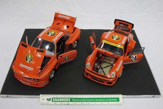 Model Cars x 2 - 1 x Jagermeister Porsche 934 & Jagermeister BMW 3.0 CSL (Scale 1:12)