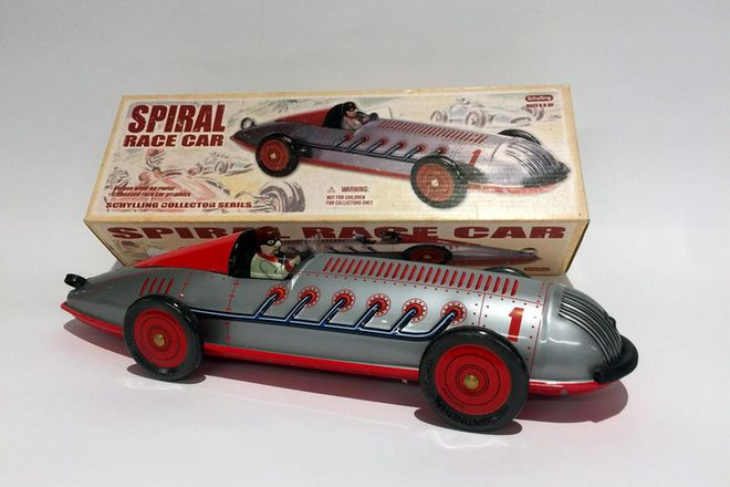 Model Tin Car Schylling Collector Series - Spiral Race Car