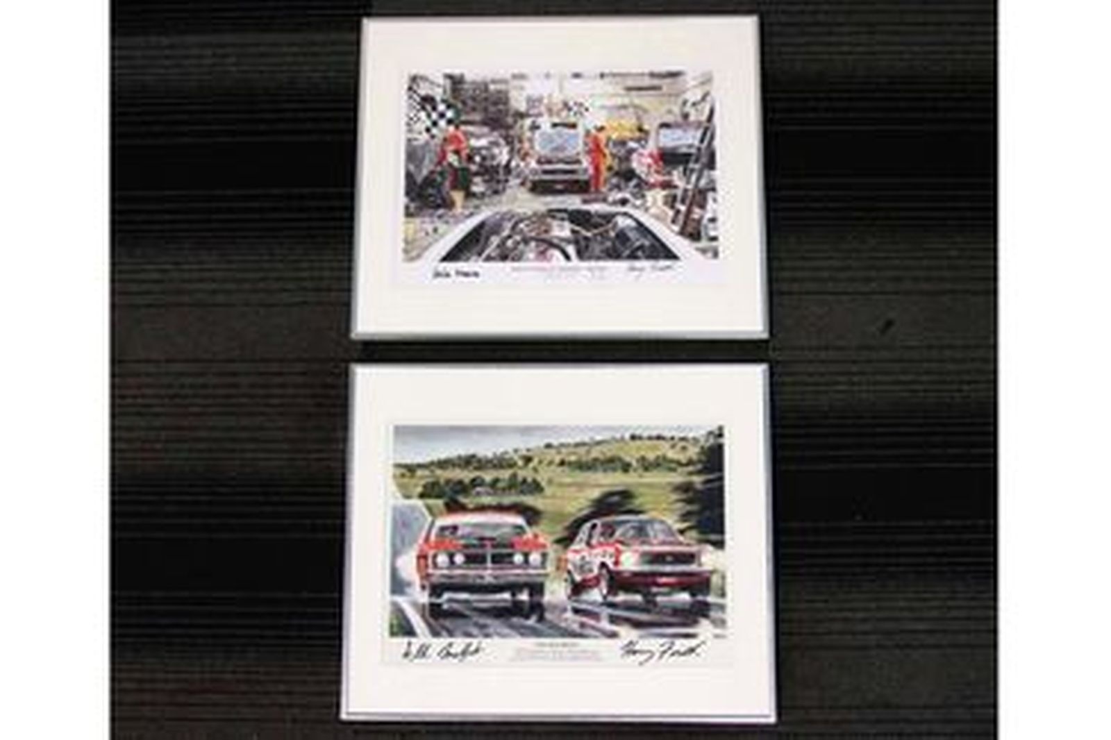 2 x Touring Car Prints By Mike Harbar (50 x 40cm) Signed
