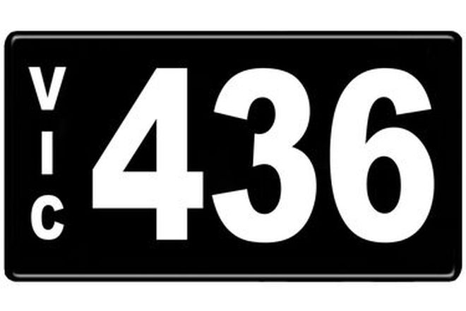 Number Plates - Victorian Numerical Number Plates '436'