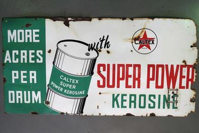 Enamel Sign - Caltex Super Power Kerosine (1800 x 900cm)