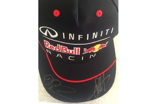 F1 Red Bull Racing Cap Signed by Sebastian Vettel and Daniel Ricciardo