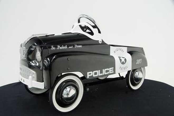 Pedal Car - Police Highway Patrol by Novelty Burns (90cm length)
