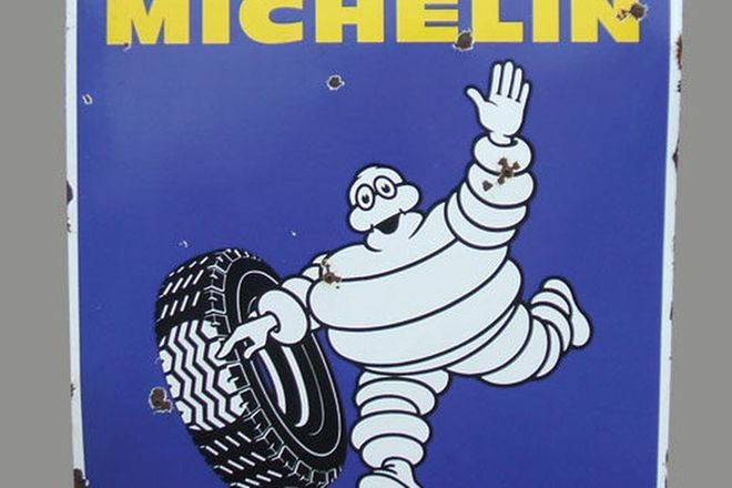 Enamel Sign - Michelin (96cm x 96cm)Enamel Sign - Michelin (96cm x 96cm)