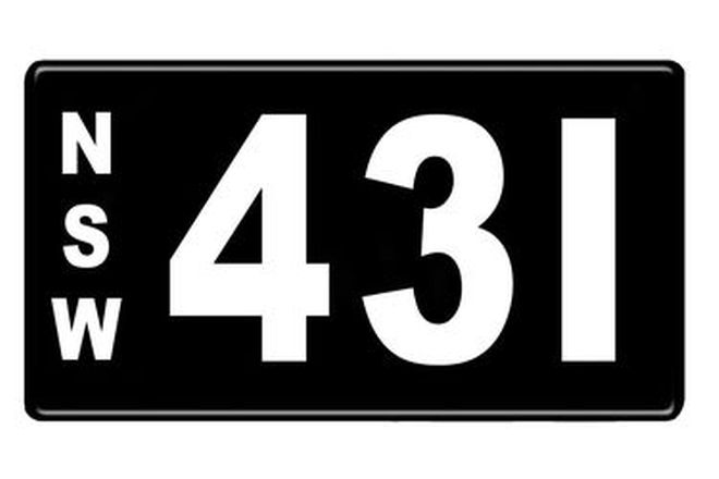 Number Plates - NSW Numerical Number Plates '431'