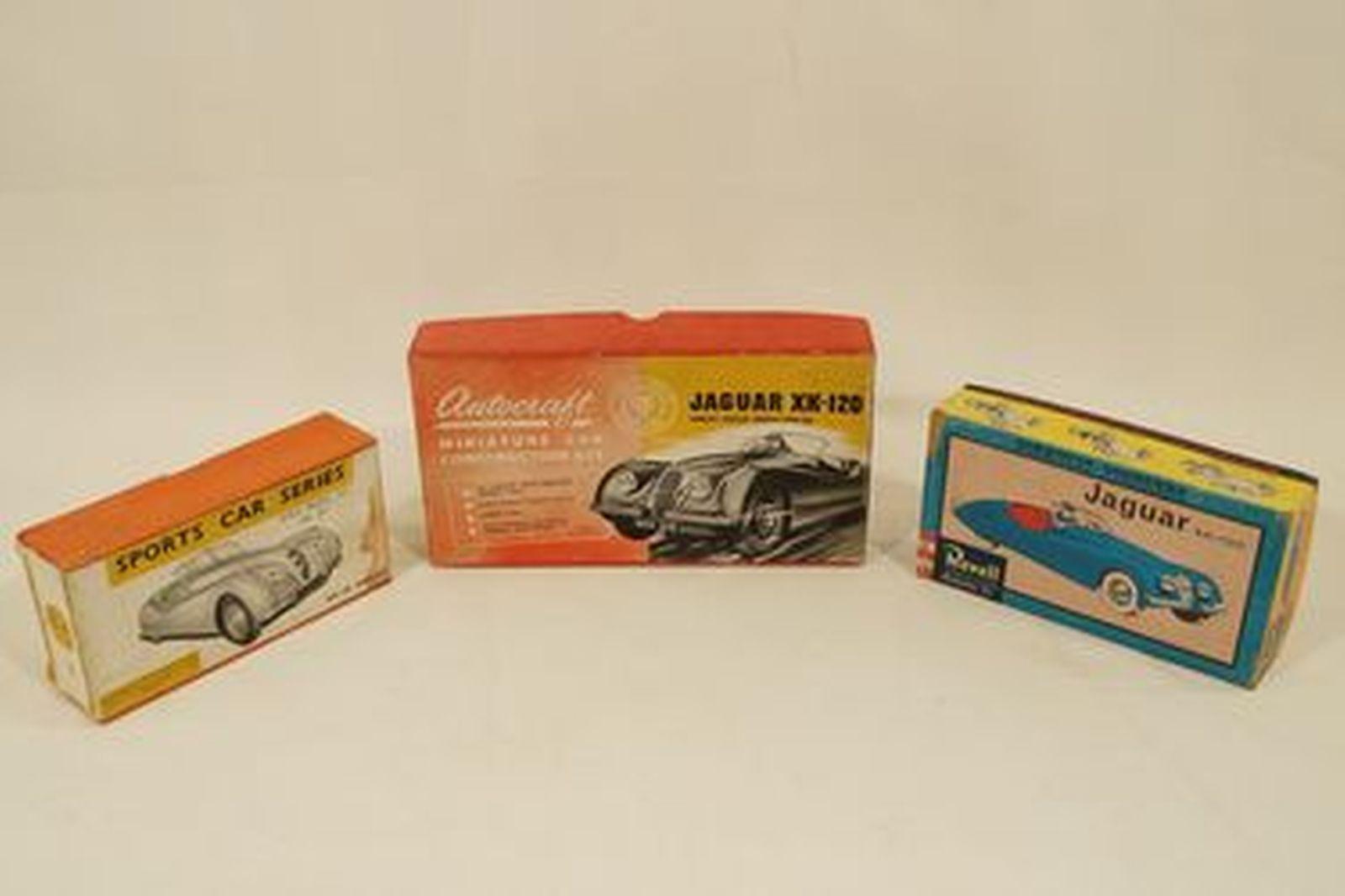 Sold: Model Kits x 3 - Jaguar XK120 by Autocraft, Revell