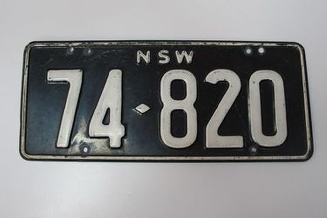 Number Plates - NSW Numerical Number Plates '74820'