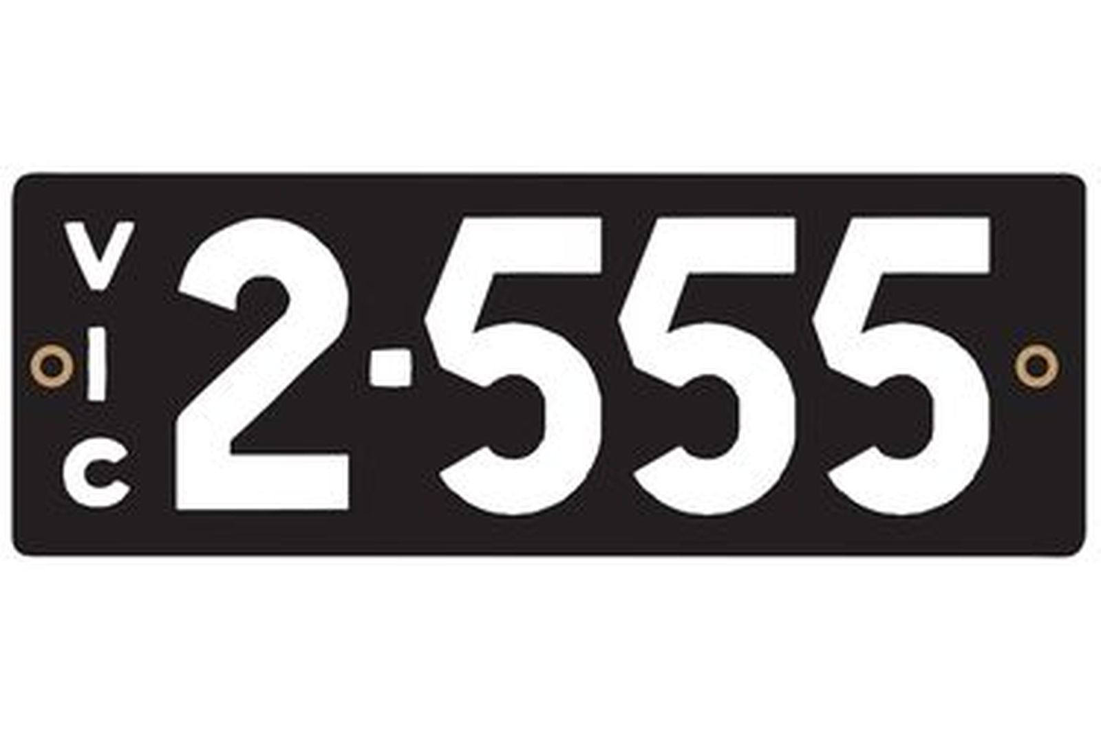 Victorian Heritage Number Plates '2.555'