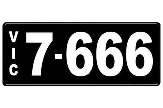 Number Plates - Victorian Numerical Number Plates '7.666'