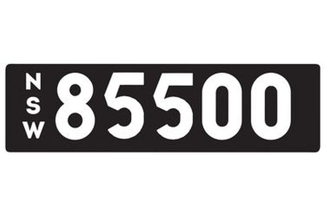 Number Plates - NSW Numerical Number Plates '85500'