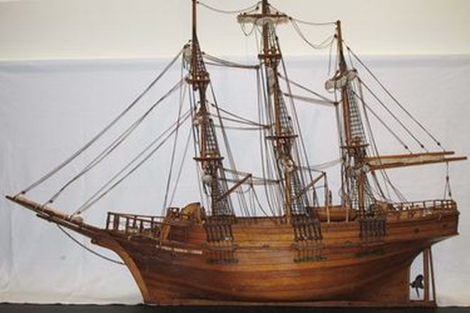 Model Ship - Scratch Built Timber Sailing Ship 'Andrea Doria' (190 x 140 x 50 cm)