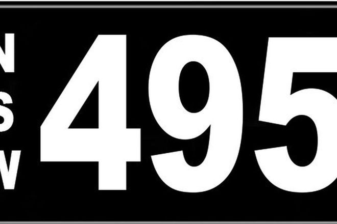 Number Plates - NSW Numerical Number Plates '495'