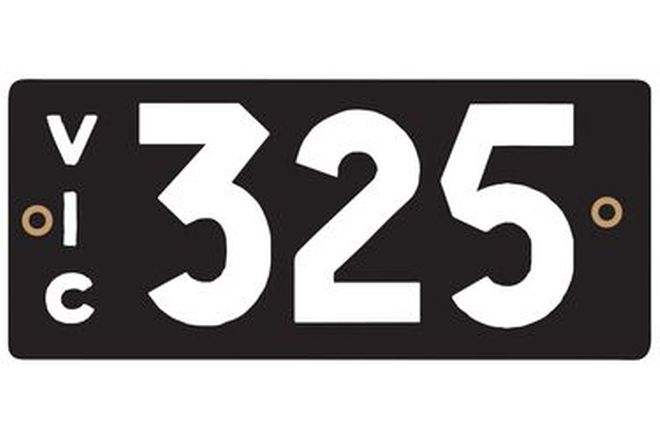Victorian Heritage Numerical Number Plate - 325