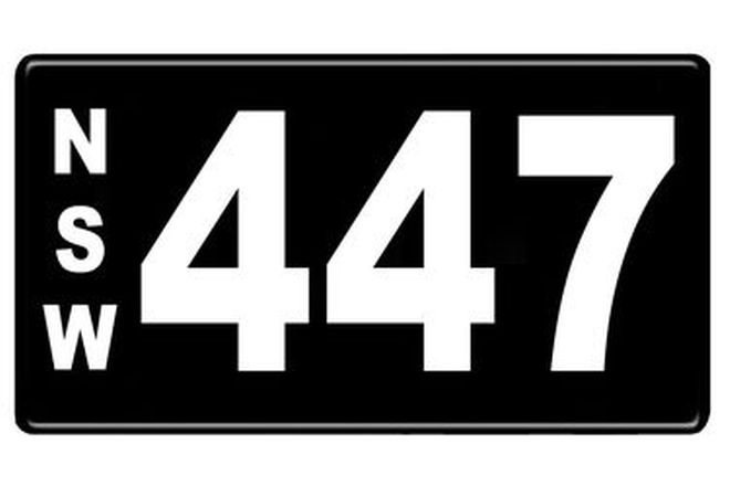 Number Plates - NSW Numerical Number Plates '447'