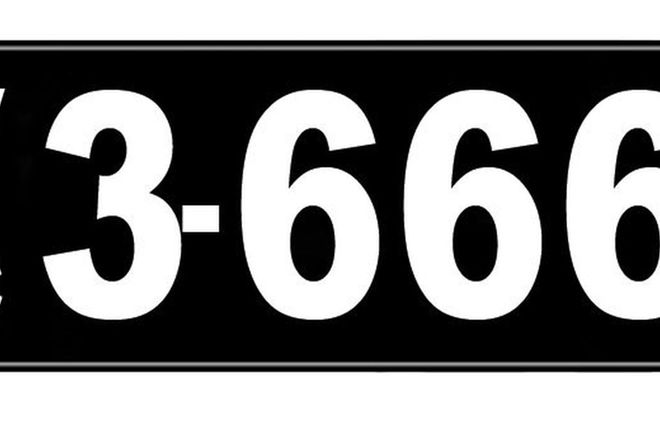 Number Plates - Victorian Numerical Number Plates '3.666'