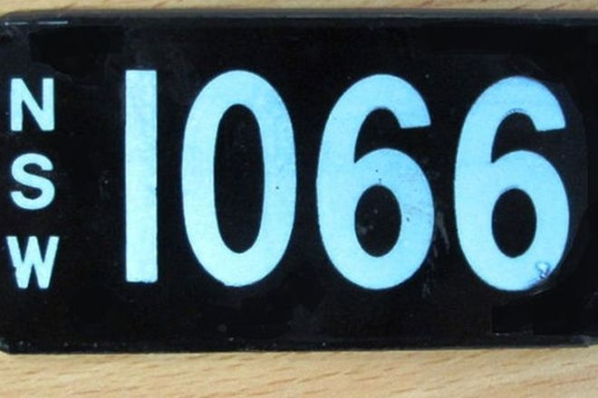 Number Plates - NSW Numerical Number Plates '1066'