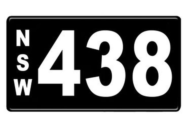 Number Plates - NSW Numerical Number Plates '438'