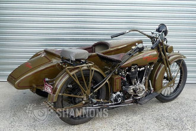 Harley-Davidson JE Model 1000cc Motorcycle with Sidecar