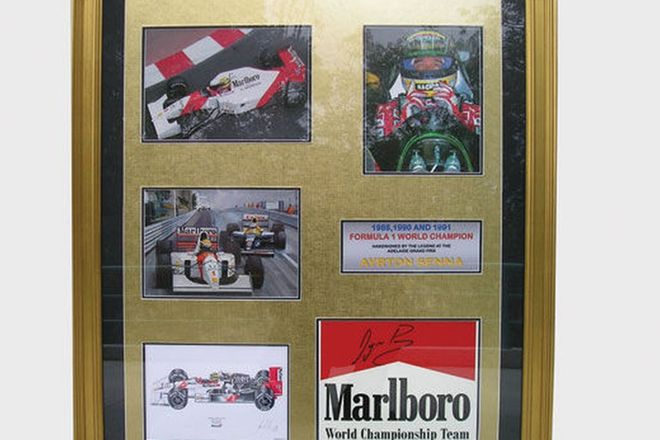 CHARITY LOT - Framed Signed Prints of '88,'90 &'91 F1 World Champion - Ayrton Senna