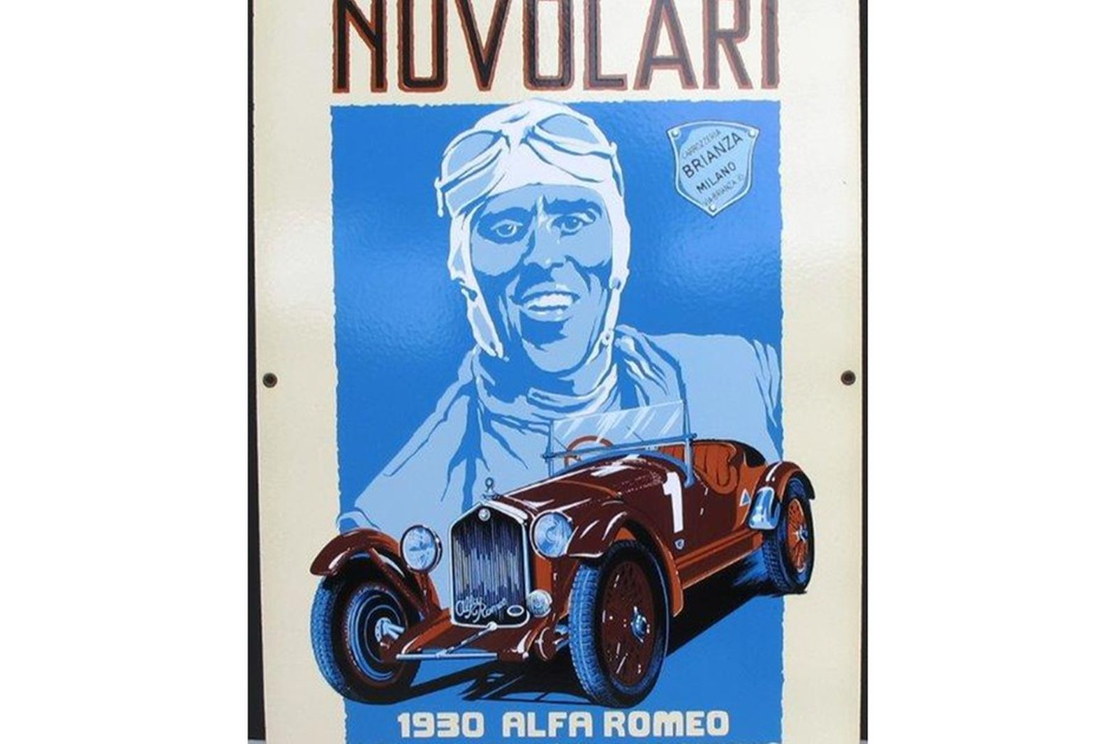 Enamel Sign - Nuvolari (76cm x 48cm) Reproduction