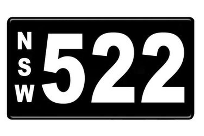 Number Plates - NSW Numerical Number Plates '522'