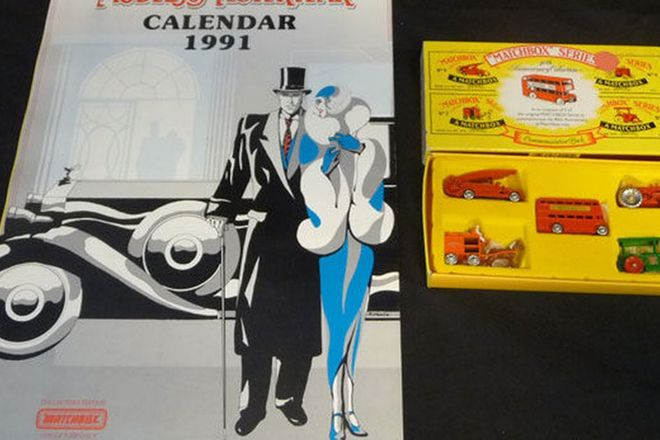 Model Cars x 16 Matchbox Models of Yesteryear & Calender (scale 1:47, 1:59, 1:35)
