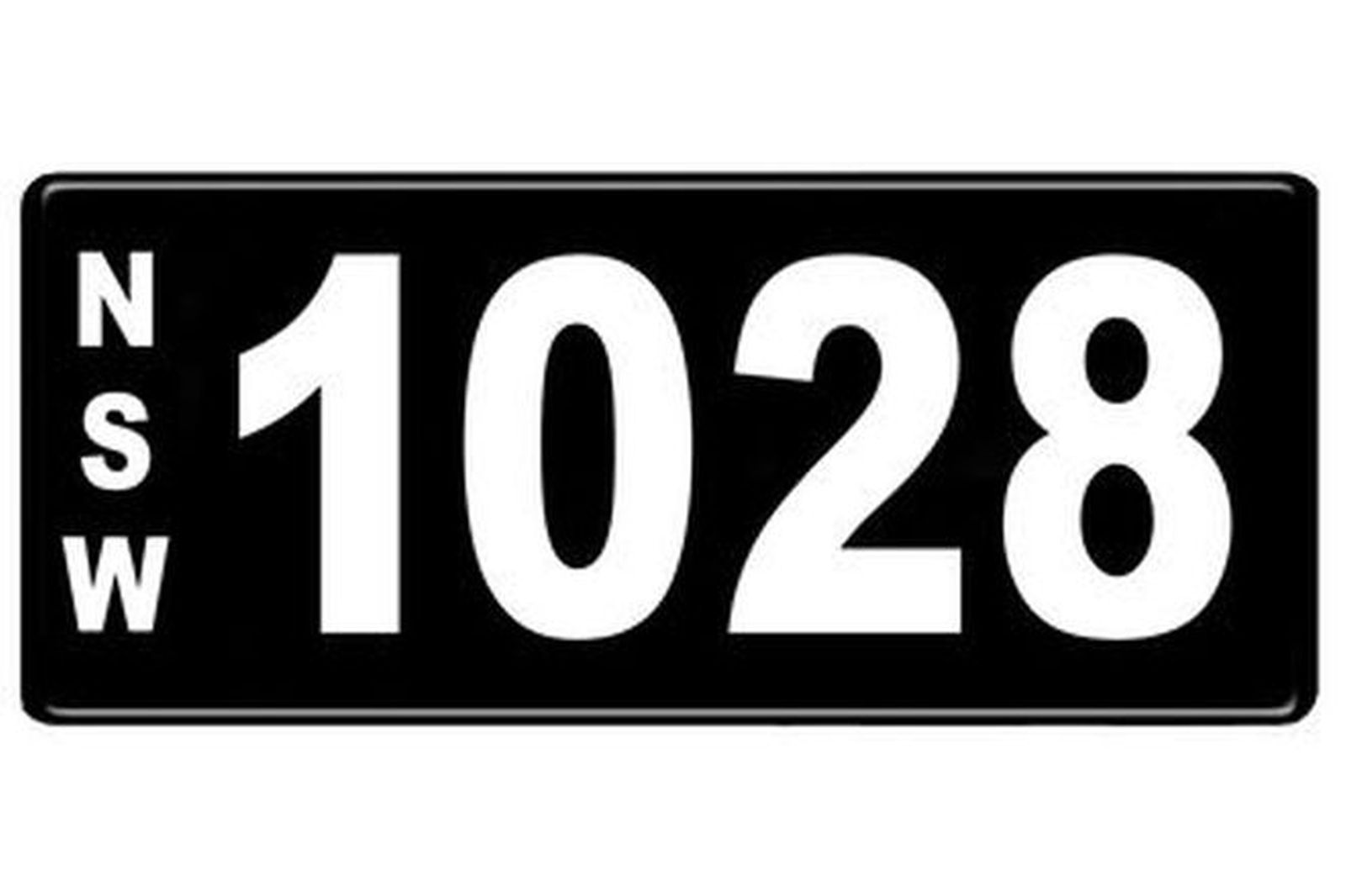 Number Plates - NSW Numerical Number Plates '1028'