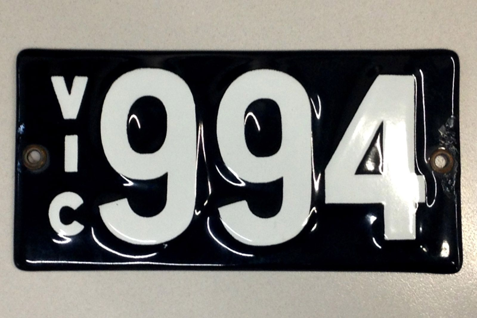 Number Plates - Victorian Numerical Number Plates '994'