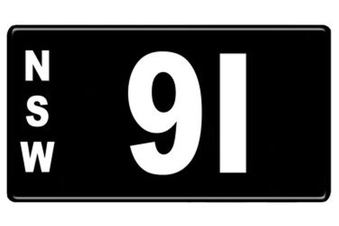 Number Plates - NSW Numerical Number Plates '91'