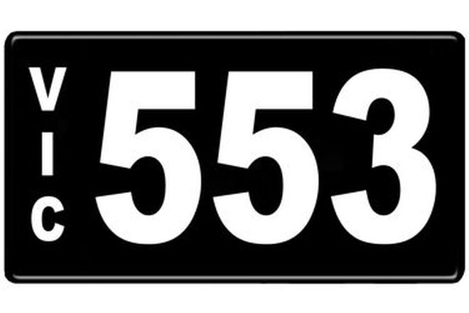 Number Plates - Victorian Numerical Number Plates - 553