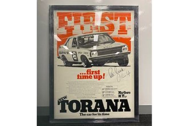 Original Poster - Torana Signed by Peter Brock (83 x 110cm)