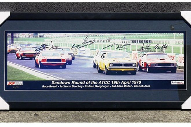 Framed Photograph - 1970 Sandown Motor Racing