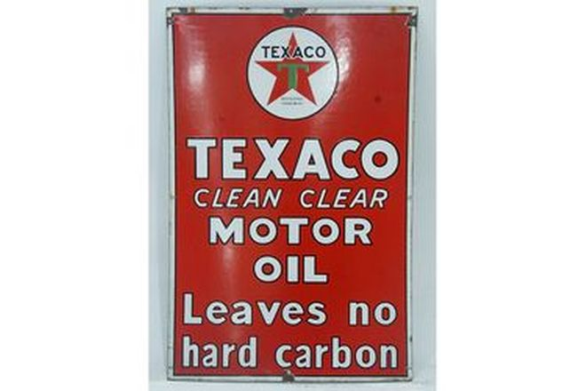 Enamel Sign - Texaco Clean Clear Motor Oil (61 x 91cm)