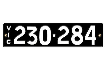 Victorian Number plates '230-284'