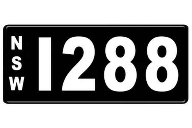 Number Plates - NSW Numerical Number Plates '1288'