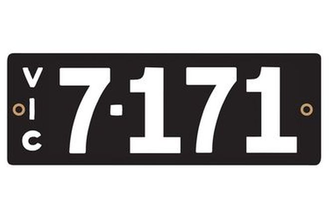 Victorian Heritage Numerical Number Plates - '7.171'