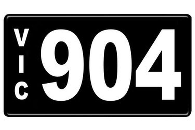 Number Plates - Victorian Numerical Number Plates '904'