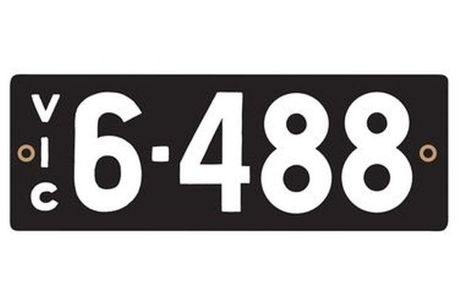 Victorian Heritage Numerical Number Plates '6.488'