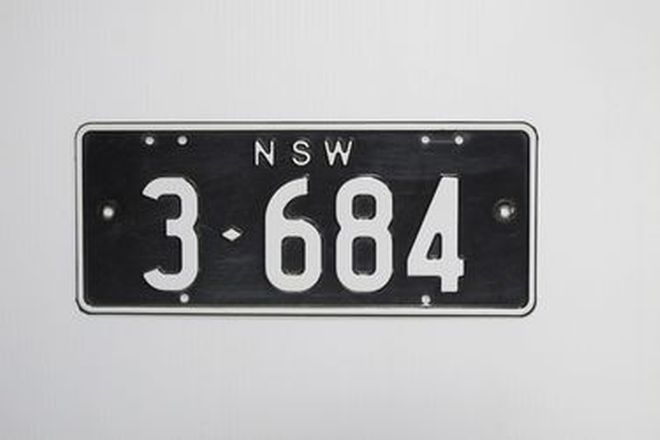 Number Plates - NSW Numerical Number Plates '3-684'