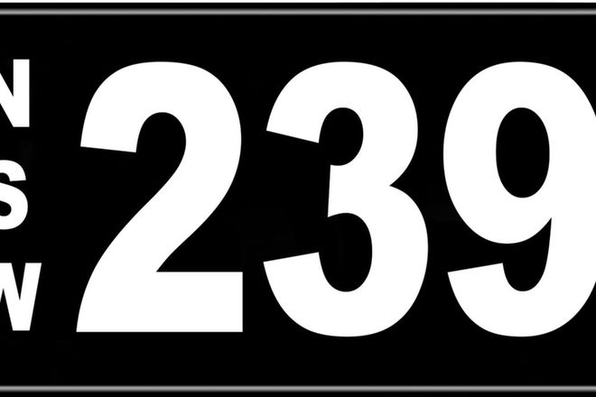 Number Plates - NSW Numerical Number Plates '239'