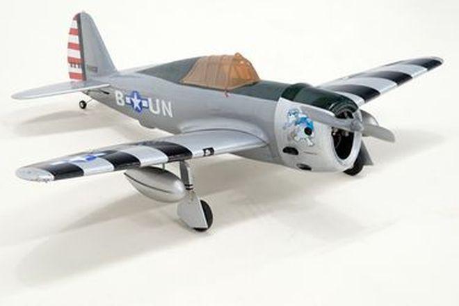 Plane - WW2 P47 Thunderbolt with Engine  (Wingspan 1.3m)
