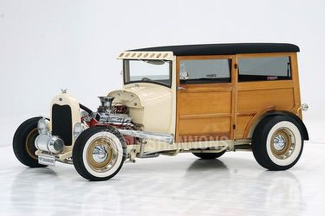 Ford Model A Tudor Street Rod 'Woody Wagon'